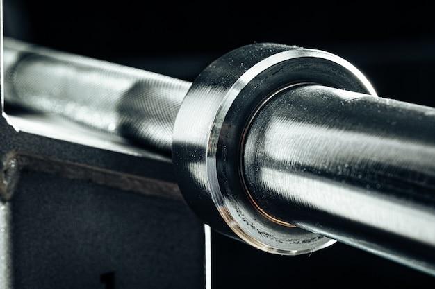 Metall fitnessraum gewichtsstange für powerlifting nahaufnahme