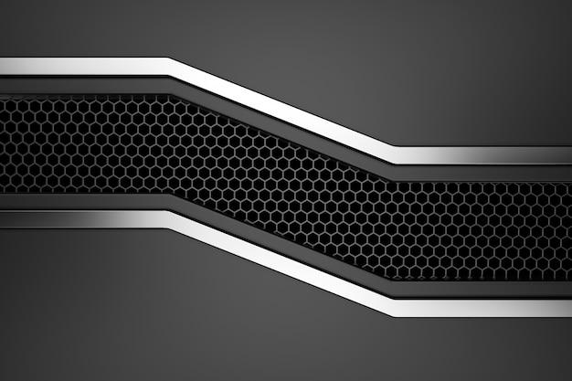 Metall hintergrund. 3d-rendering.