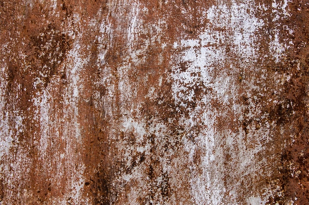 Metall korrodierter beschaffenheitshintergrund. rostiges verwittertes gemaltes blatt