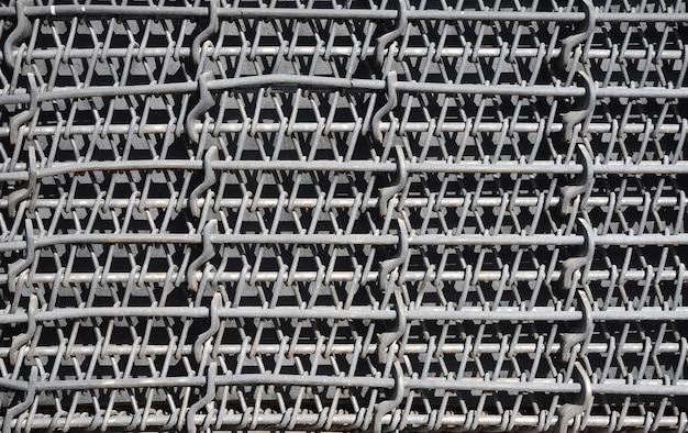 Metall mehrschichtiges dickes gitter von schwarzer farbe. zusammengesetzte textur