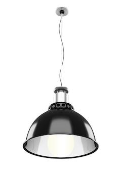 Metalldeckenlampe isoliert auf weiß
