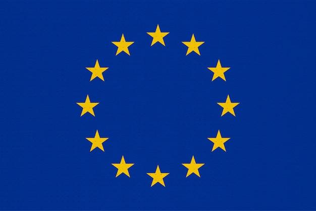 Metallflagge der europäischen union (eu) aka europa