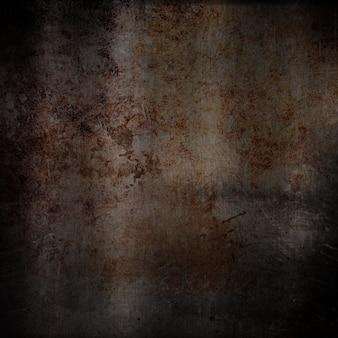 Metallic-hintergrund mit verkratzt grunge-effekt und rost
