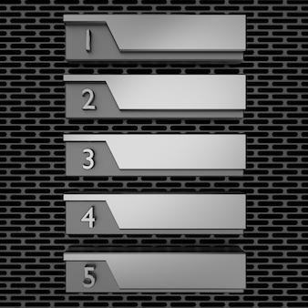 Metallisch nummerierte liste