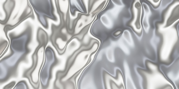 Metallische oberfläche faltige eisentextur faltige oberfläche glänzende 3d-illustration