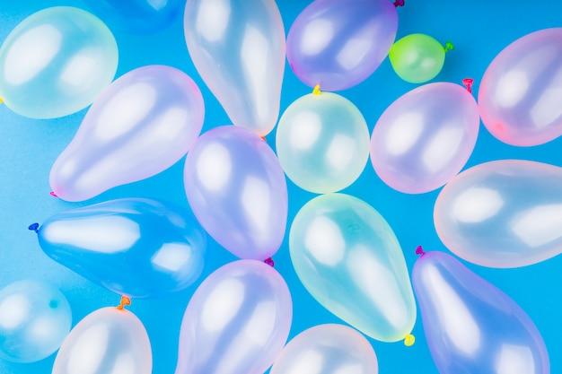 Metallische transparente ballons der draufsicht