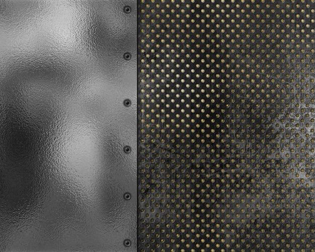 Metallischer beschaffenheitshintergrund der grunge art