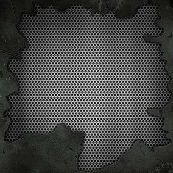 Metallischer hintergrund des schmutzes 3d