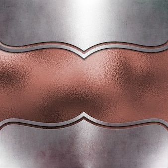 Metallischer hintergrund mit rosafarbener goldbeschaffenheit
