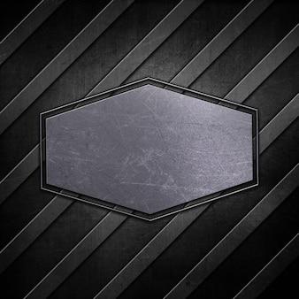 Metallischer plattenhintergrund mit verkratztem schmutzeffekt
