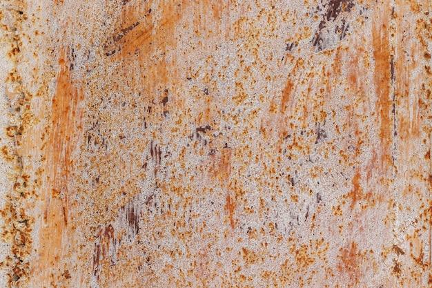 Metallisches altes tauchte mit rost, hintergrundbeschaffenheit auf