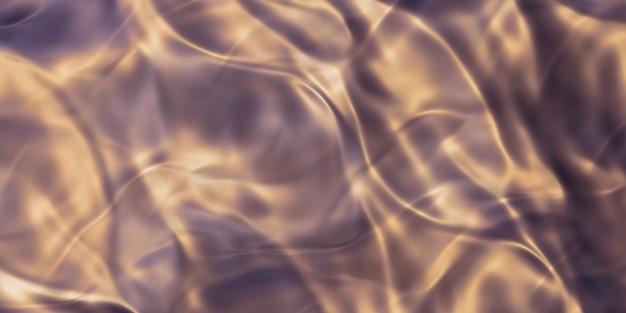 Metalloberflächenstreifen aus gold faltige stahloberfläche glänzende oberfläche 3d-darstellung