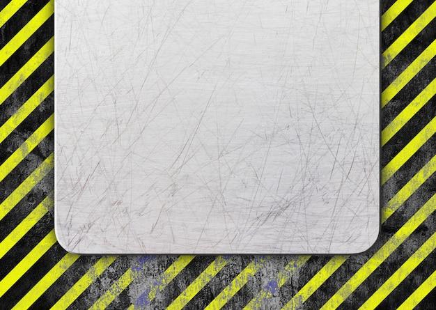 Metallrahmen mit warnzone für warnfarben