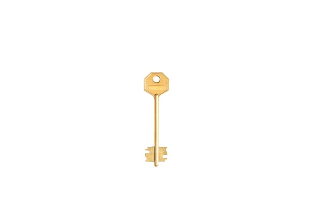 Metallschlüssel auf einem weißen hintergrund isolieren.