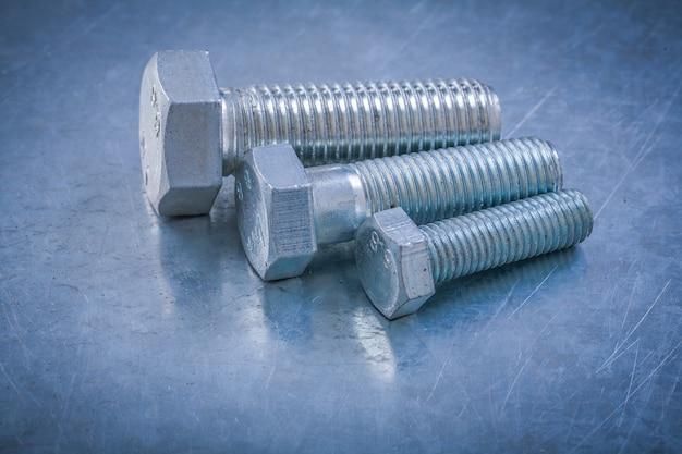 Metallschraubendetails zum wartungskonzept für metalltische