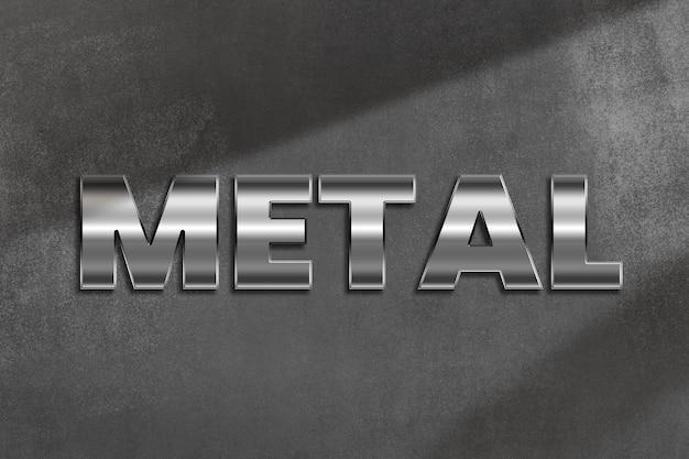 Metallwort im metallischen stil