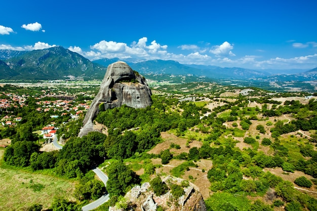 Meteora felsformationen komplexe von klöstern in griechenland