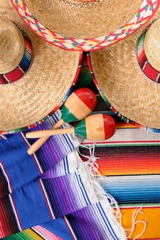 Mexikanische elemente draufsicht