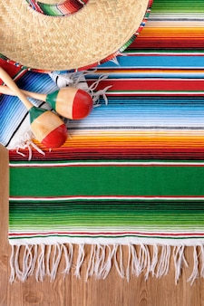 Mexikanische elemente über den boden
