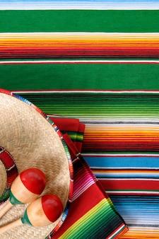 Mexikanische farbige elemente