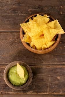 Mexikanische nachos chips