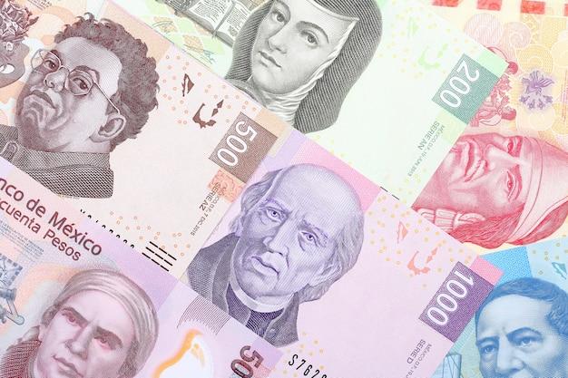 Mexikanische pesos, ein geschäftshintergrund