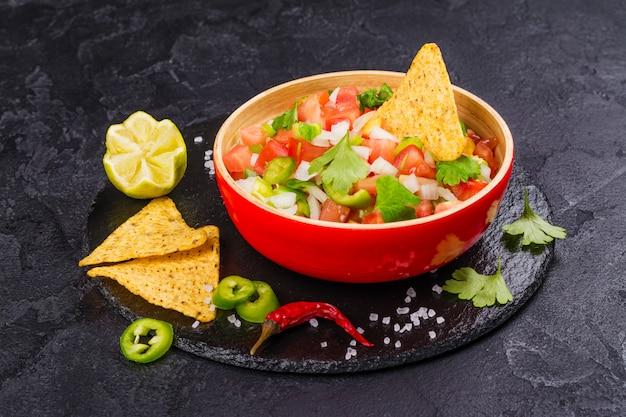 Mexikanische pico de gallo salsa