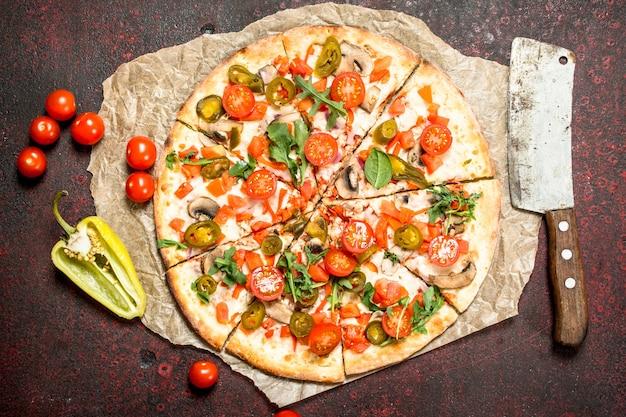 Mexikanische pizza mit paprika
