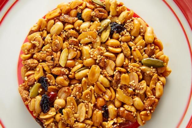 Mexikanische süßigkeit süßes palanqueta mit erdnüssen