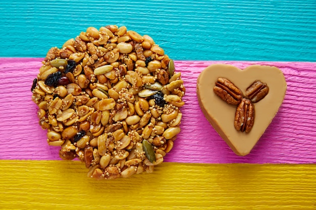 Mexikanische süßigkeit süßes palanqueta und cajeta