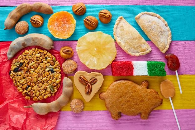 Mexikanische süßigkeiten und gebäck cajeta tamarindo