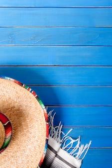Mexikanischer hintergrund mit copyspace