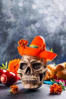 Mexikanischer tag der toten dekoration