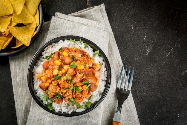 Mexikanisches essen, chili con carne