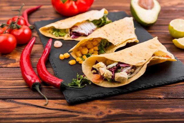 Mexikanisches essensstillleben