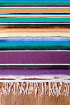 Mexiko cinco de mayo traditionelle mexikanische serape wolldecke oder decke hintergrund