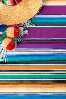 Mexiko-cinco de mayohintergrund mexikanischer sombrero