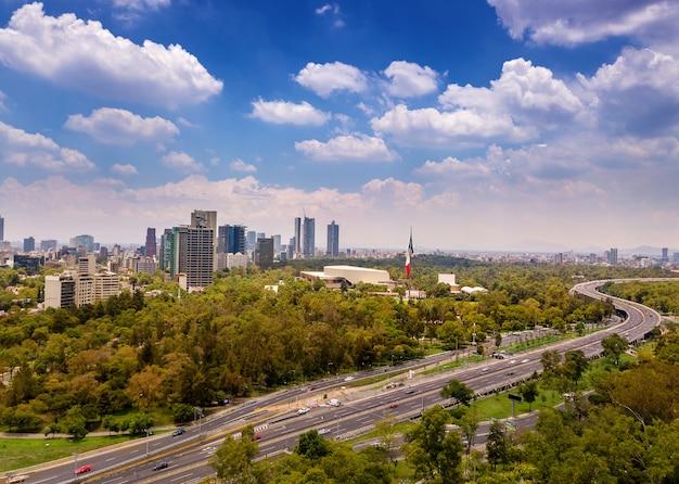 Mexiko city polanco luftaufnahme