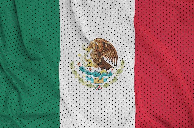 Mexiko-flagge gedruckt auf einem polyester-nylonnetz