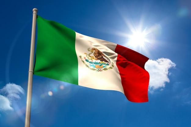 Mexiko nationalflagge am fahnenmast