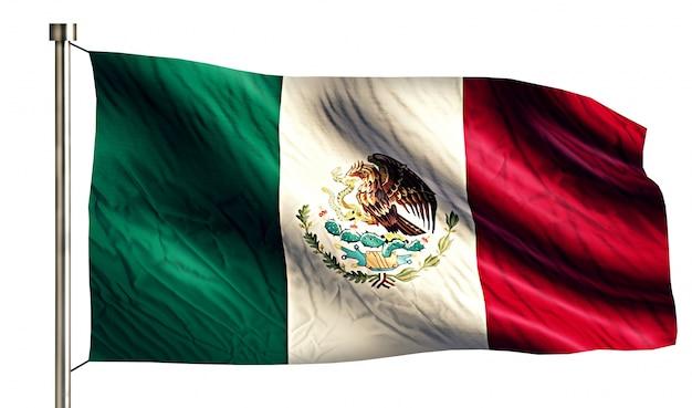 Mexiko nationalflagge isoliert 3d weißen hintergrund