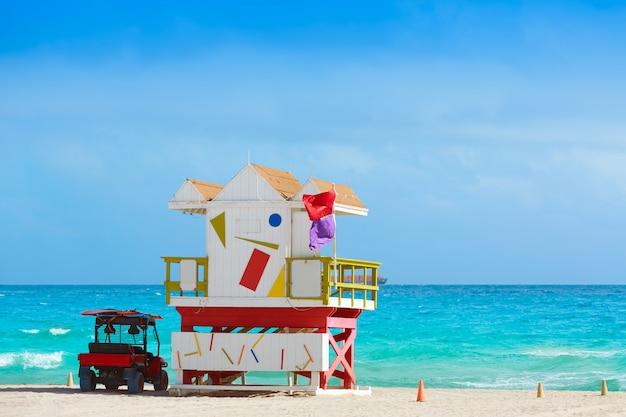 Miami beach baywatch tower südstrand florida