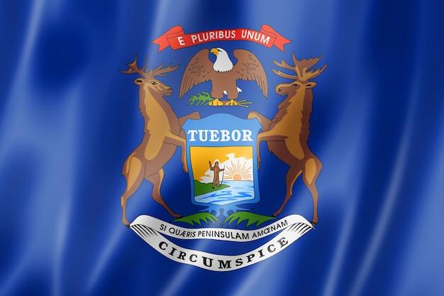 Michigan flagge, usa