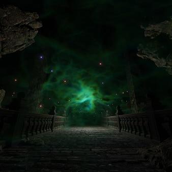 Middle earth journeys in legend hintergrund für tapeten in der dekorativen und fantasy-szene