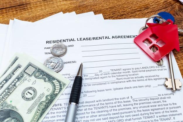 Mietvertrag für haus, haus, eigentum, immobilienmietvertrag