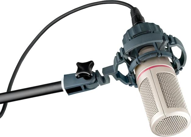 Mikrofon im digitalen studio im hintergrund
