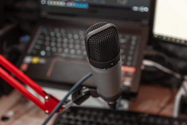 Mikrofon im musikstudio