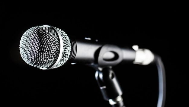 Mikrofon, mikrofon, karaoke, konzert, sprachmusik.