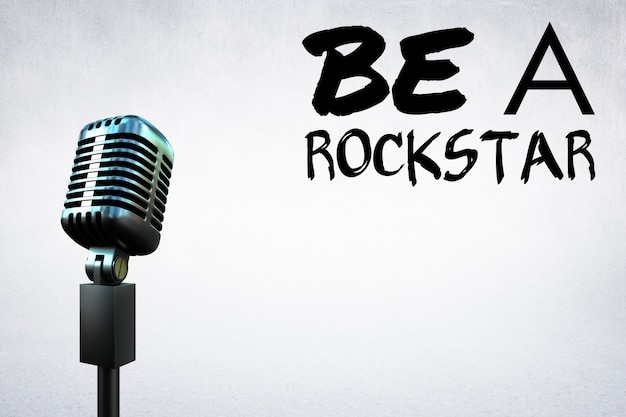 Mikrofon mit einem motivations-nachricht