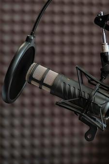 Mikrofon- und popfilteranordnung